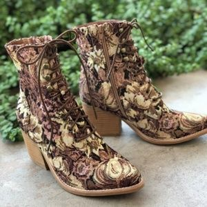 Jeffrey Campbell Floral Tapestry Elmcrom Boots